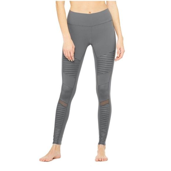 e084b62f9b762 ALO Yoga Pants | Moto Legging Slate Gray | Poshmark